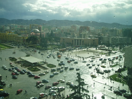 Another shot of Scanderbeg Square
